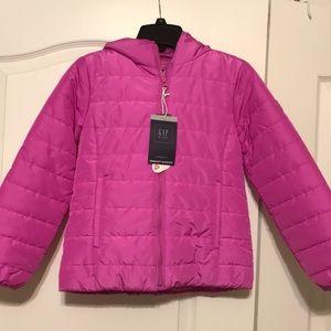 Girls GAP Primaloft puffer jacket - light purple